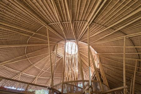 Bamboo architecture at the Green School in Bali