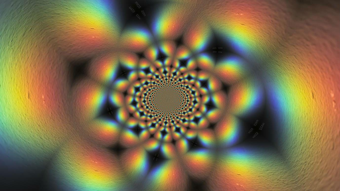 Multi colored psychedelic image