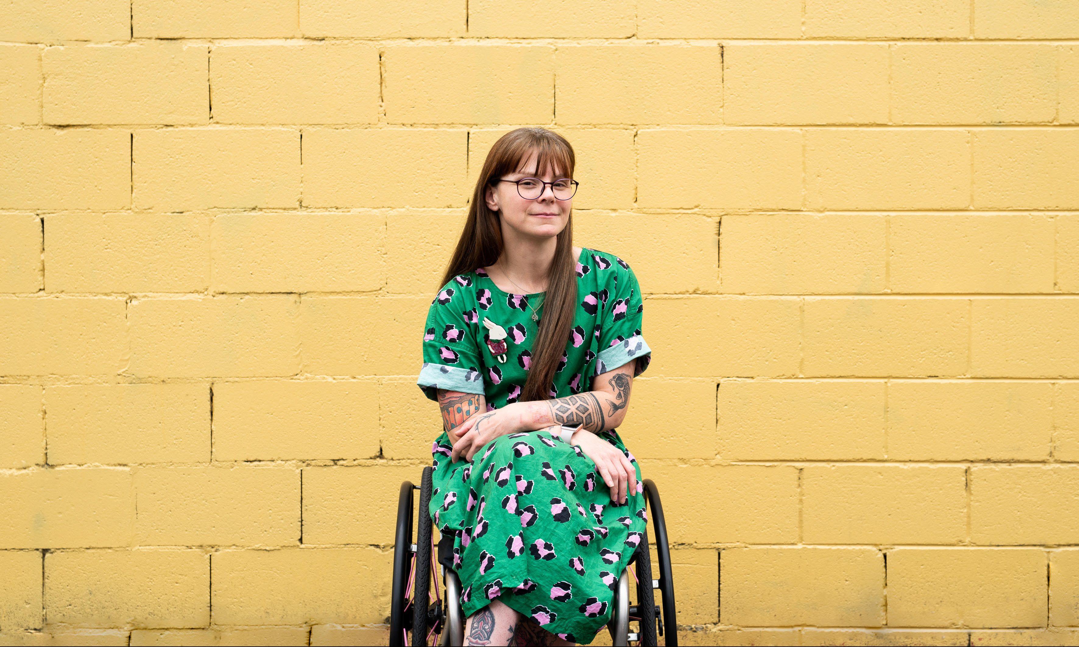 nicole lee in wheelchair