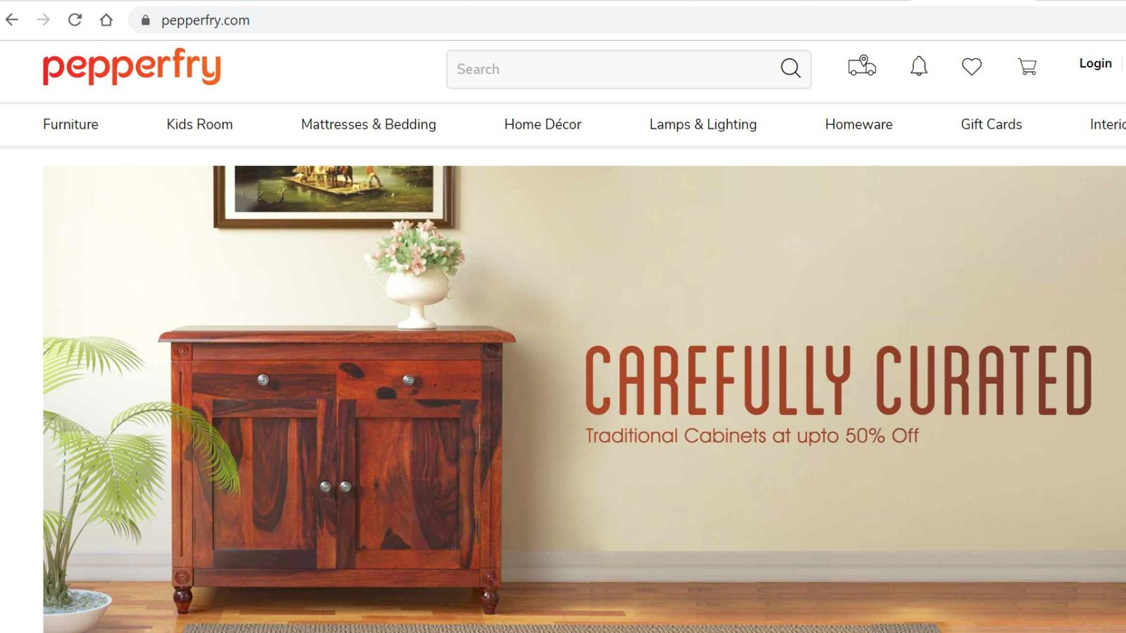 Pepperfry Indian Furniture E Commerce
