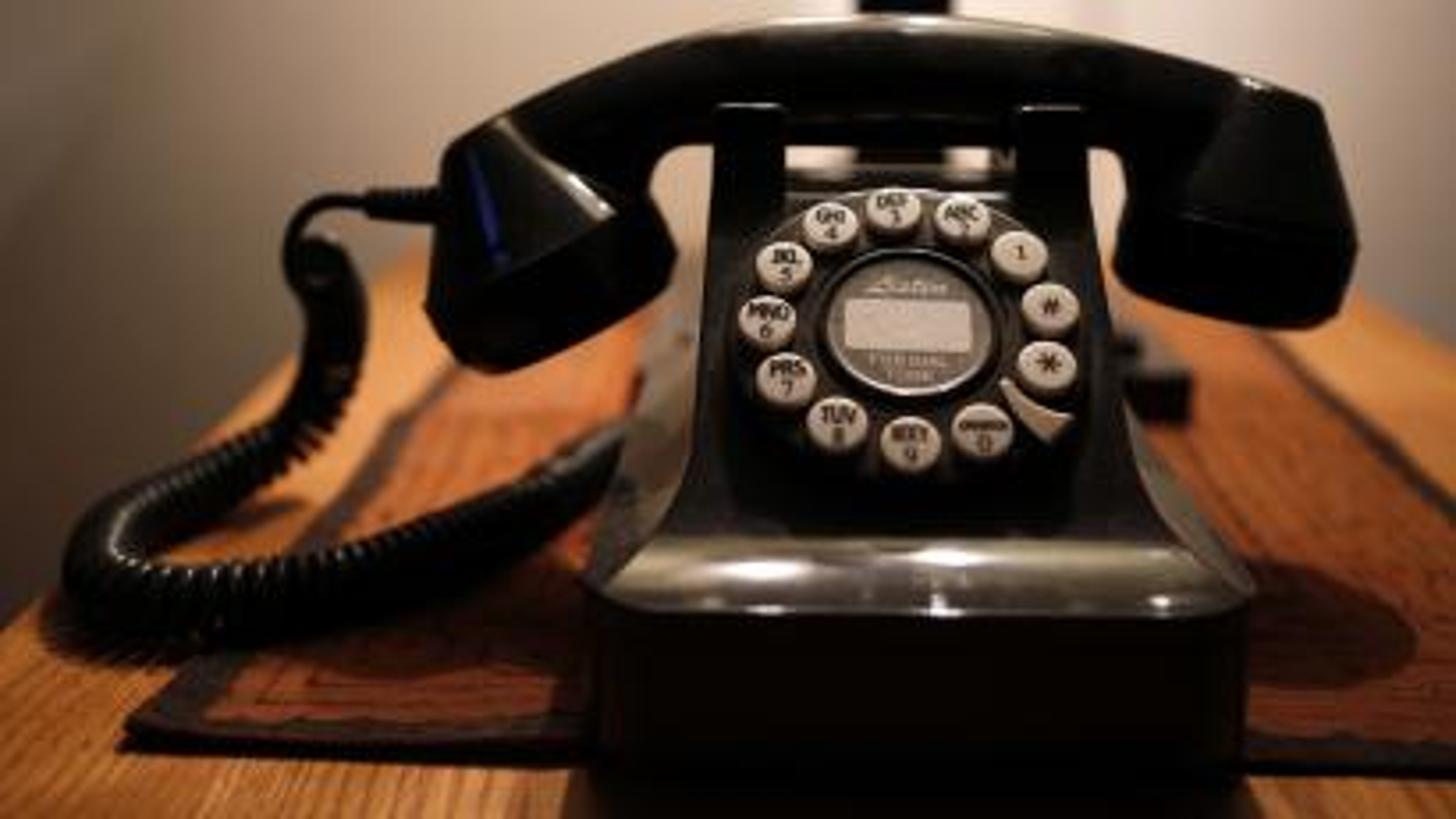 a push-button landline telephone