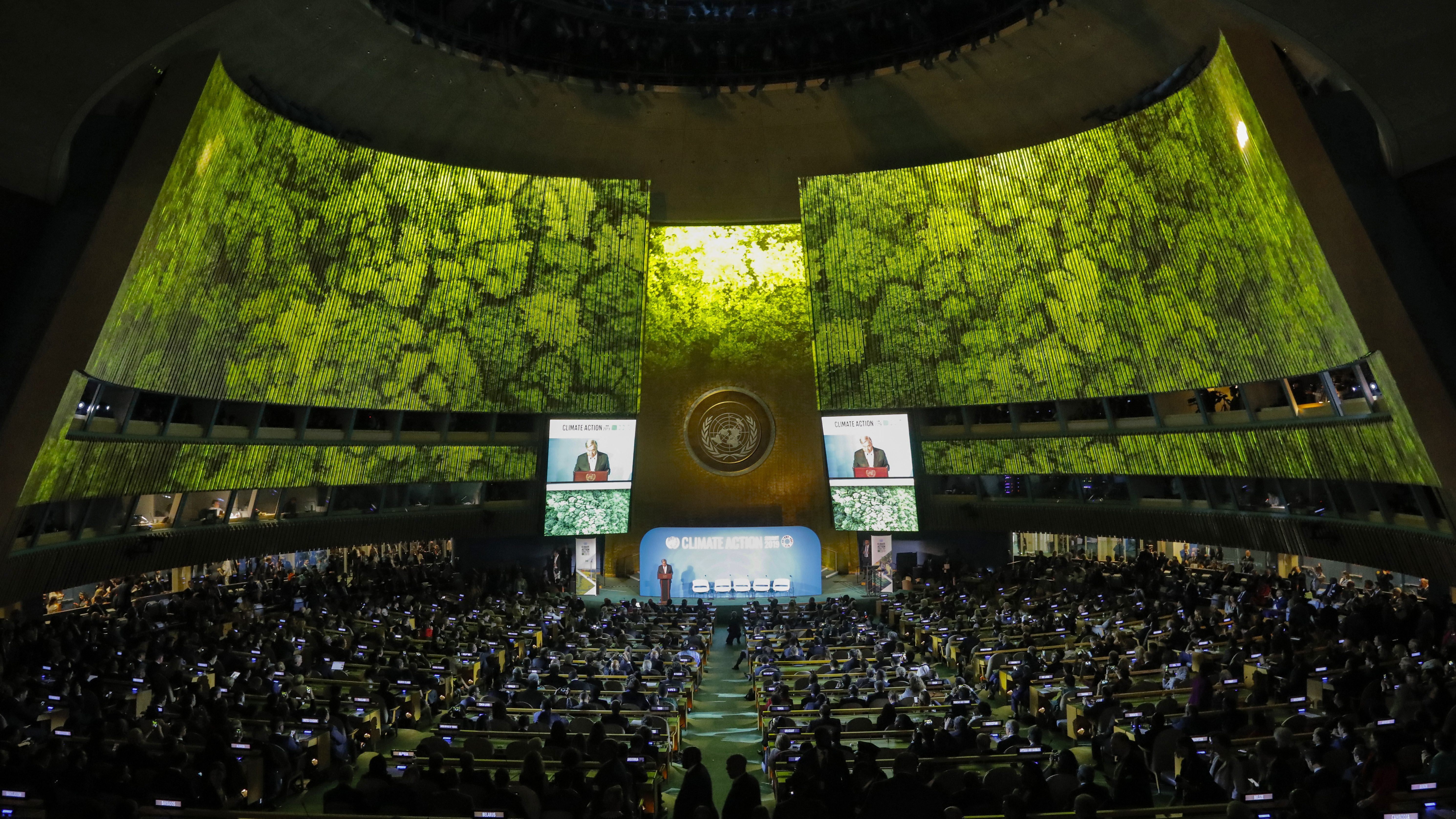 United Nations Secretary General Guterres speaks during the opening of the 2019 United Nations Climate Action Summit at U.N. headquarters in New York City, New York, U.S.