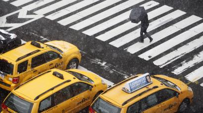 An iconic New York yellow cab