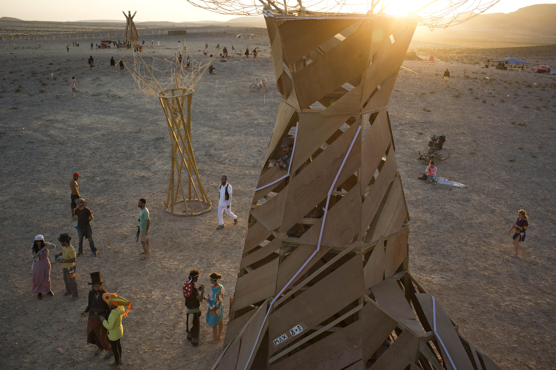 Mideast Israel Burning Man Photo Essay