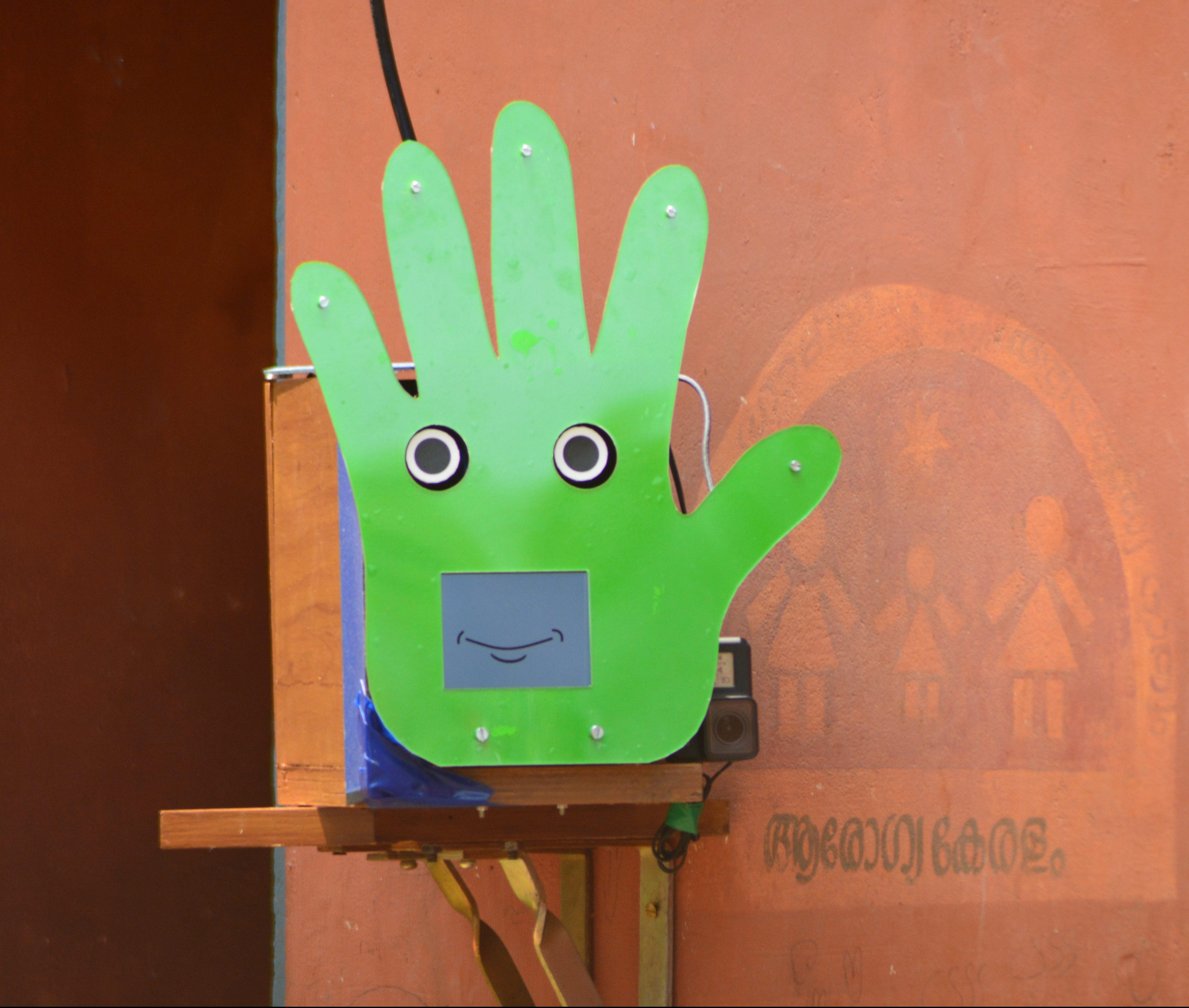 Pepe the robot handwashing monitor