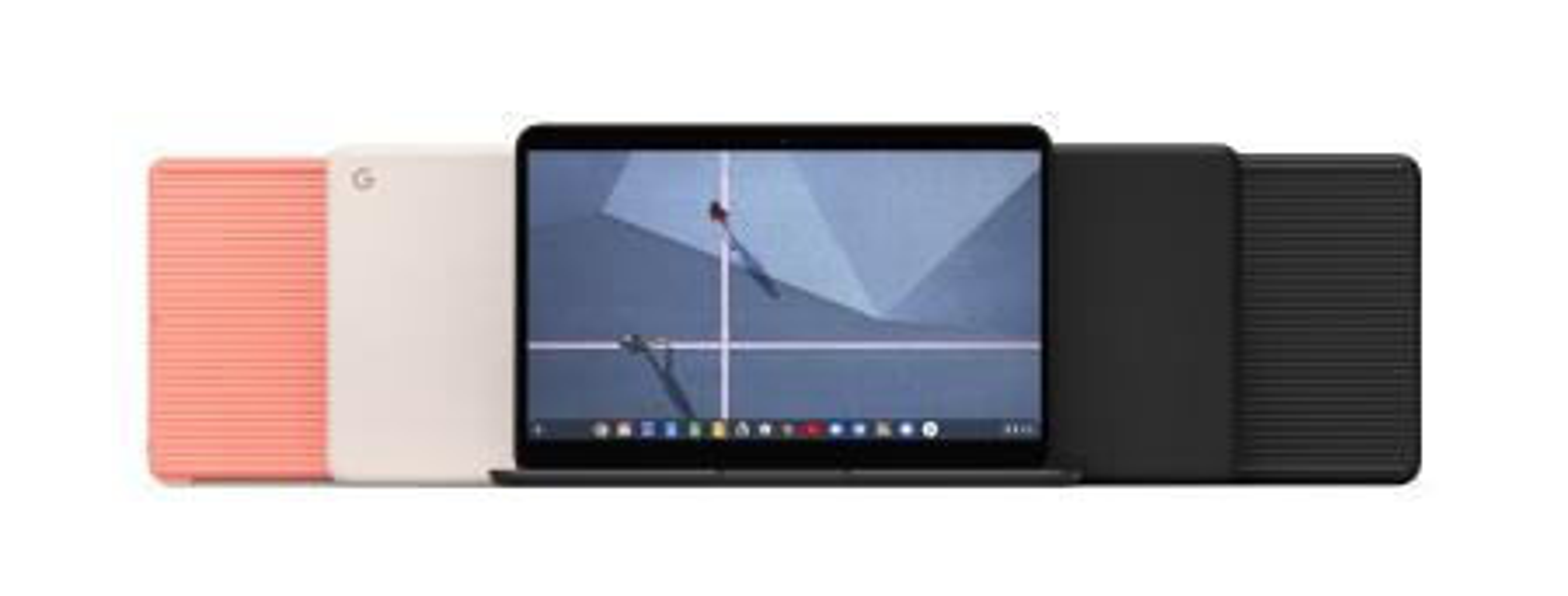 Three Pixelbook Go laptops