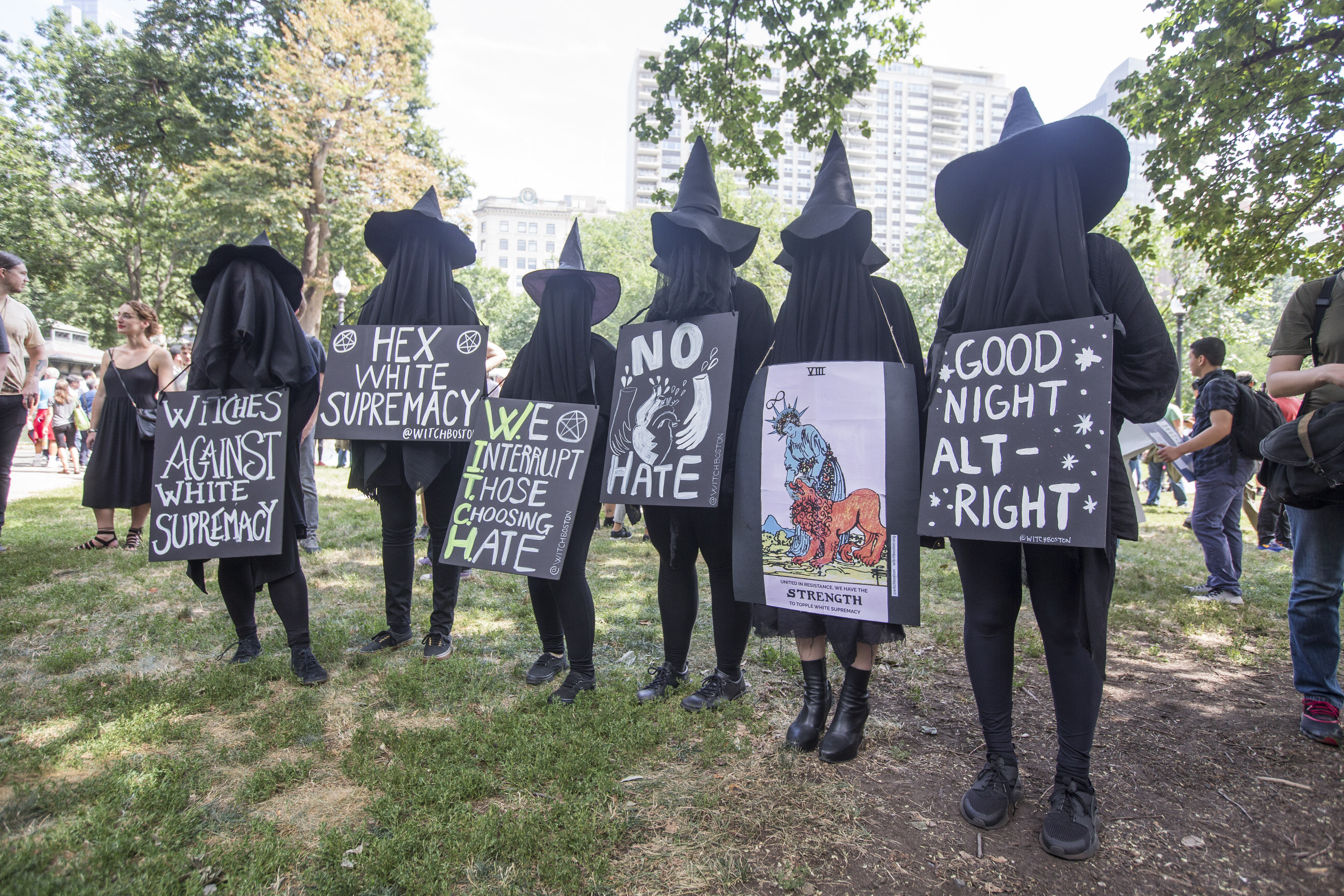 witch protestors
