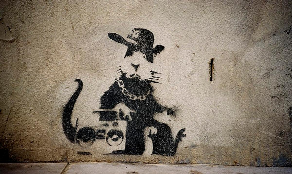 Hip Hop Rat by Banksy