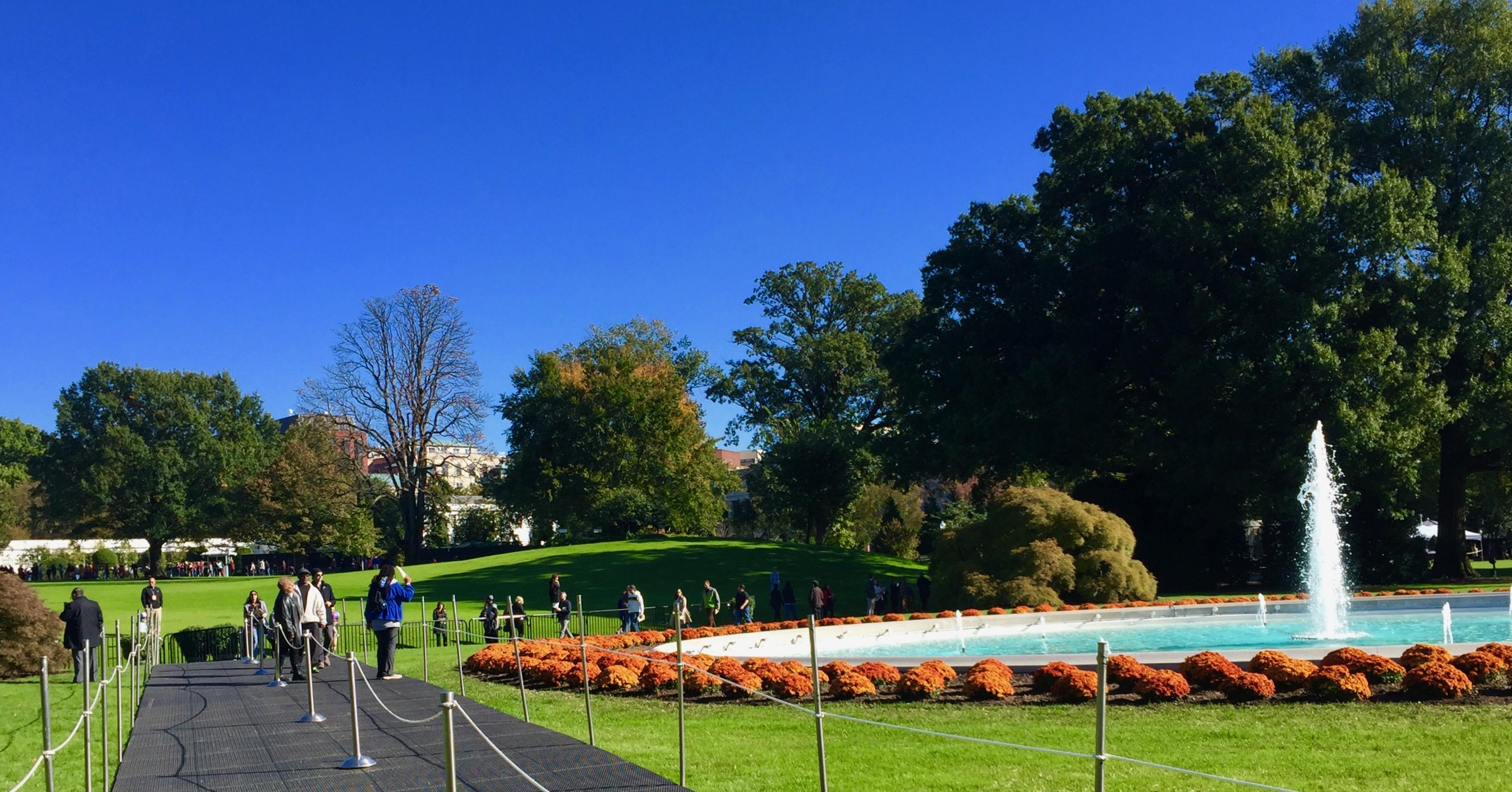 Fountain at White House
