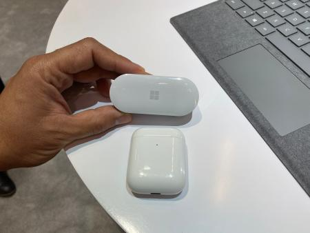 microsoft earbuds and apple AirPods cases