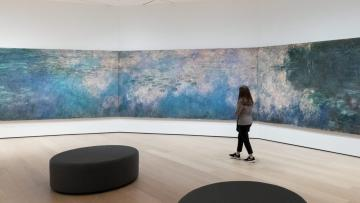 "Installation view of Claude Monet's ""Water Lilies"" at the Museum of Modern Art in New York"