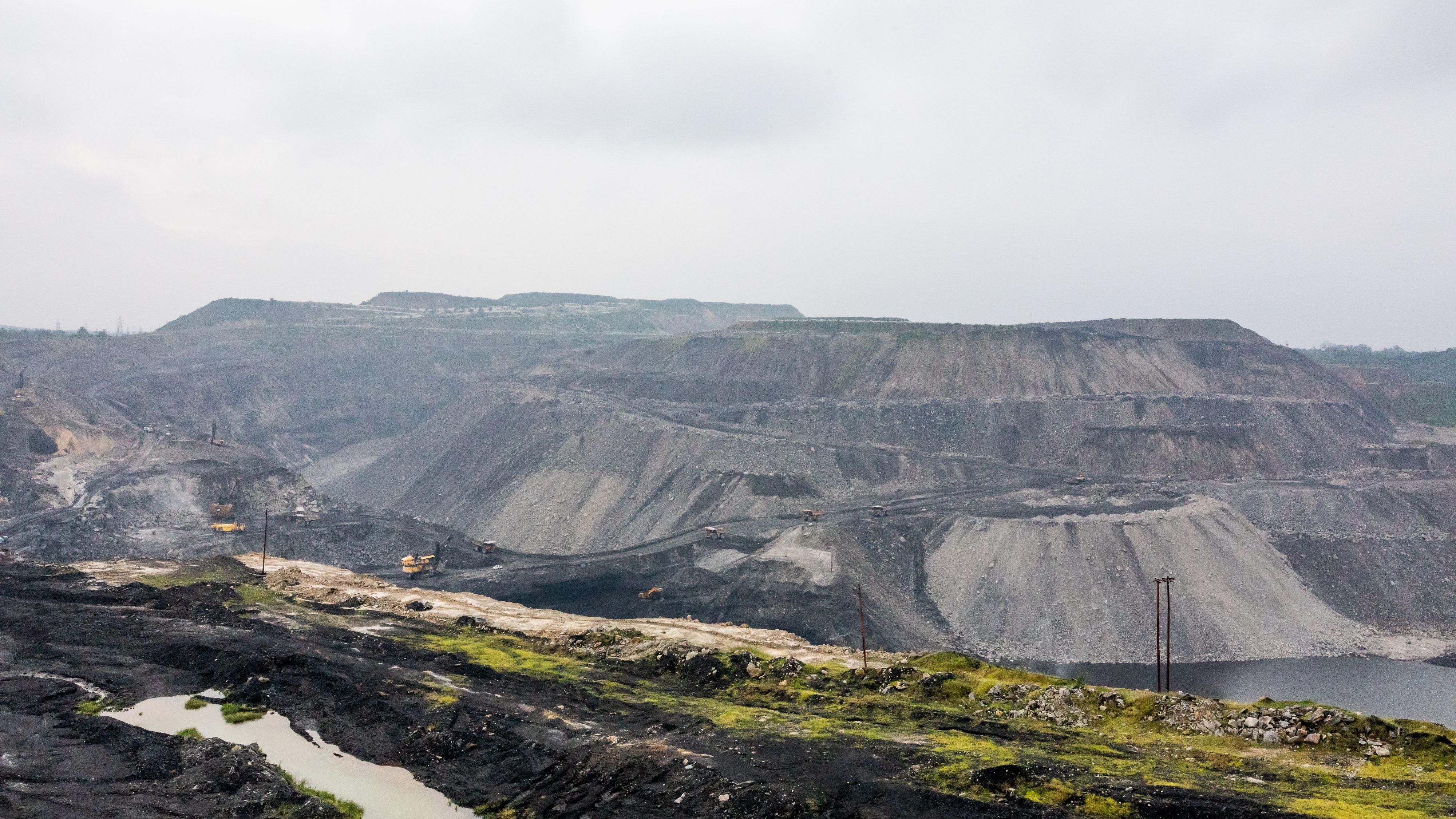 The Dipka Extension mine near Hardi Bazar in Korba, Chhattisgarh, India.