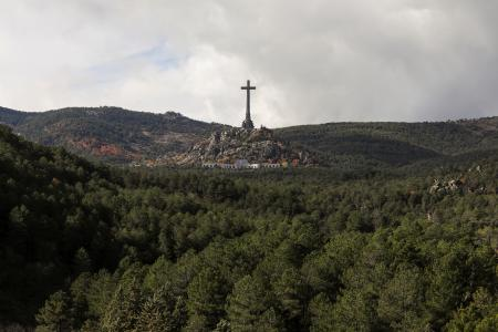 General view of the Valle de los Caidos (Valley of the Fallen), the mausoleum holding the remains of former Spanish dictator Francisco Franco, on the 43rd anniversary of his death in San Lorenzo de El Escorial, outside Madrid, Spain, November 20, 2018.