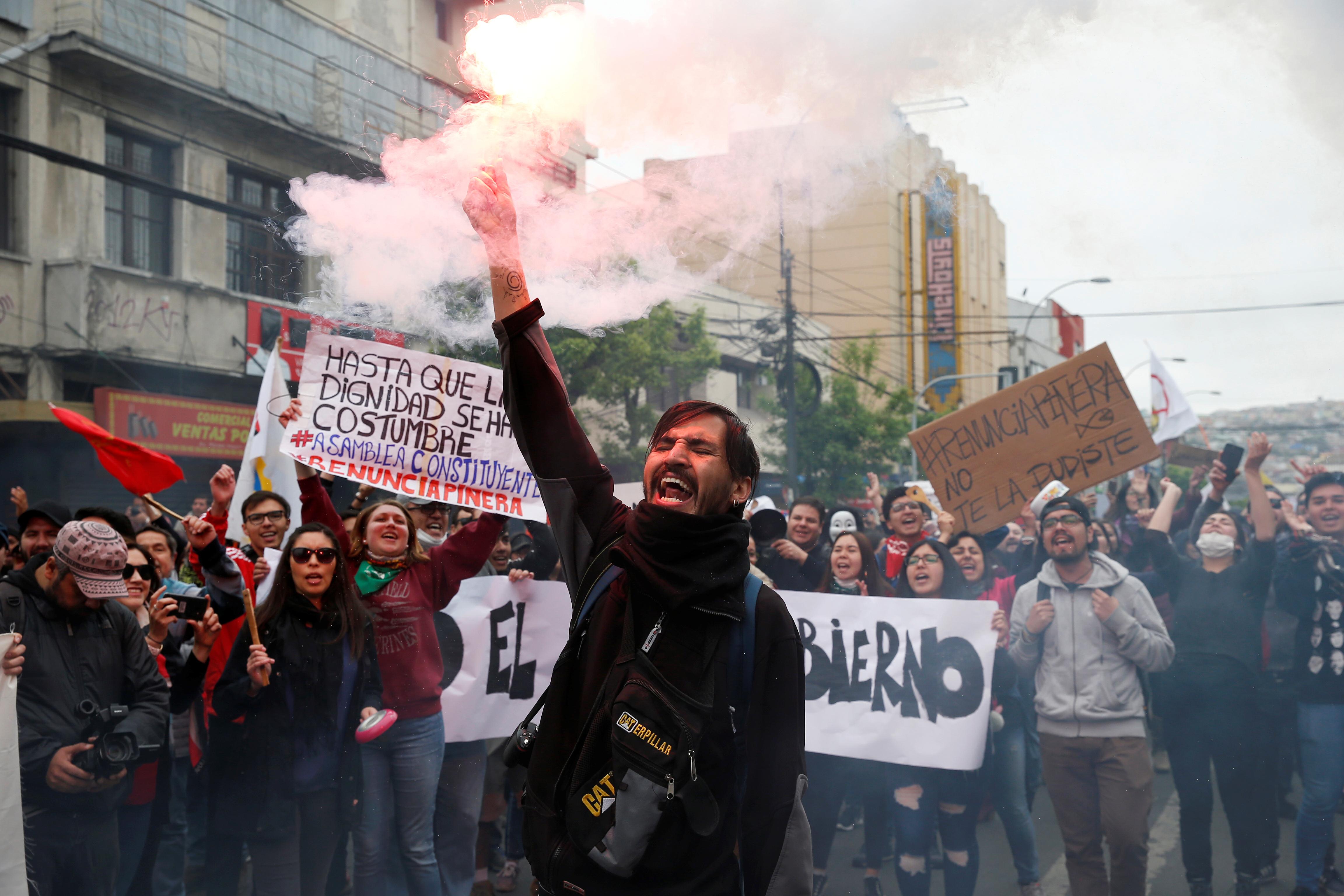 Chilean protestors