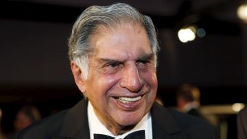 Ratan Tata, chairman emeritus of Tata Sons, attends an event where he was inducted into the 2015 Automotive Hall of Fame in Detroit,