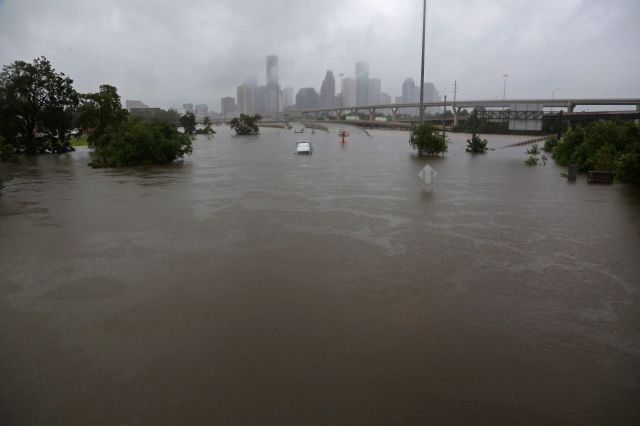 The aftermath of Hurricane Harvey in Houston, Texas