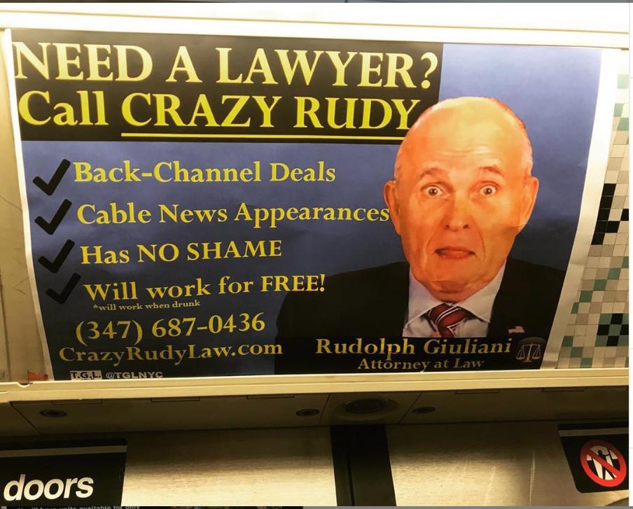 New Who behind Giuliani Quartz subway is — ad? the Rudy York