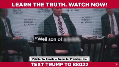 A frame from Trump's ad.