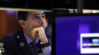 A worried stock trader