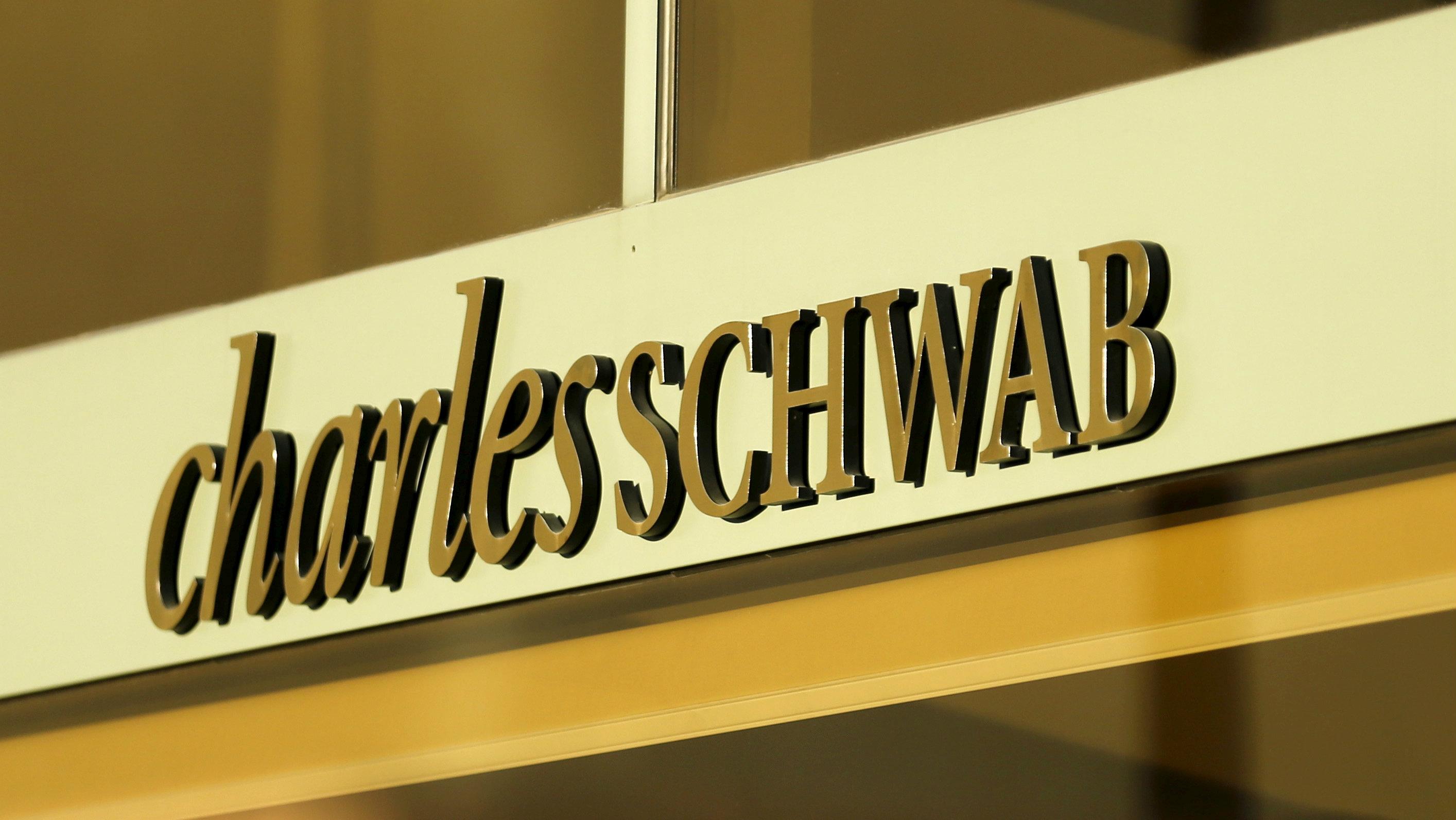 A Charles Schwab sign