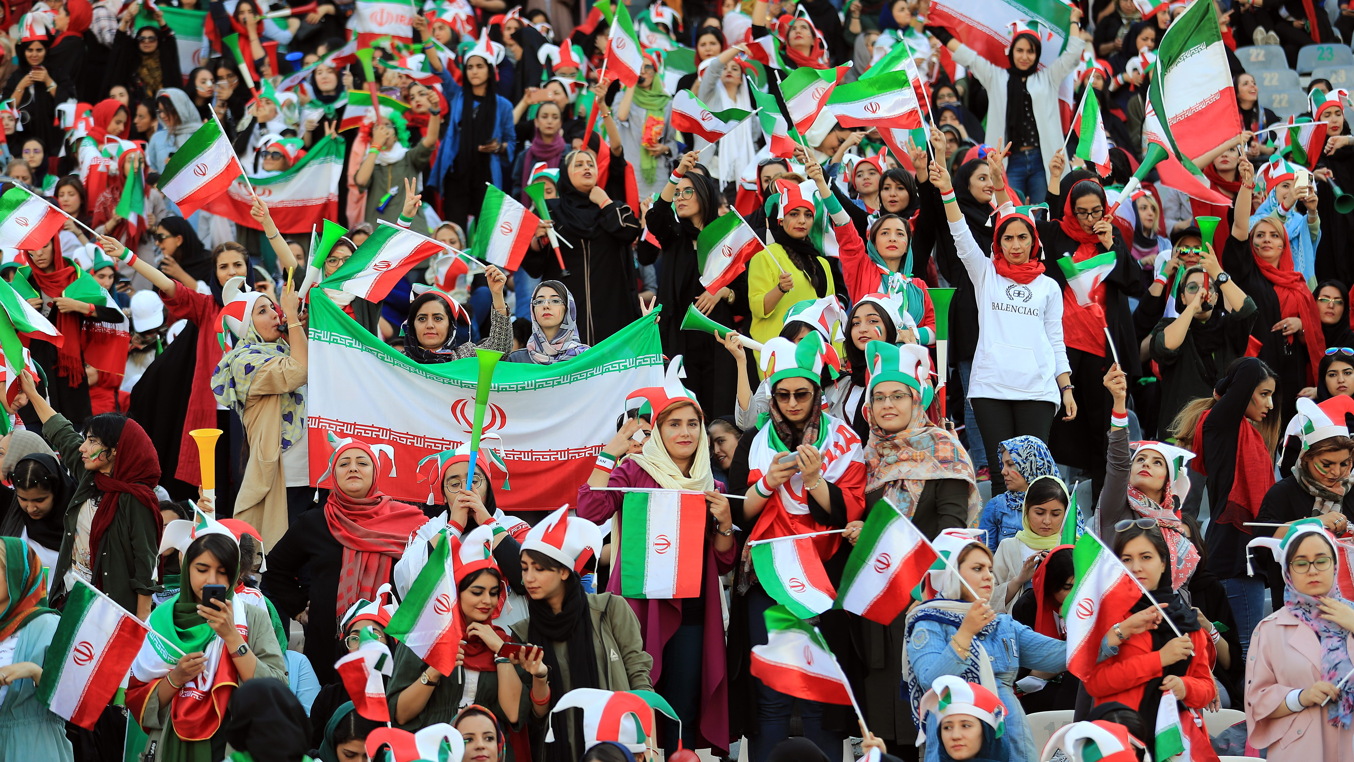 Female spectators were allowed into a single FIFA match on Thursday in Tehran.