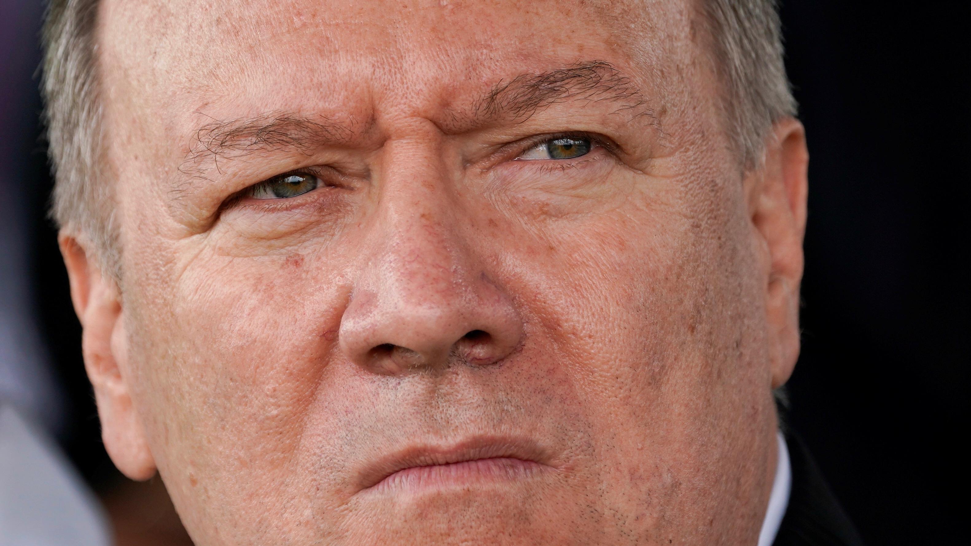 Pompeo close up.