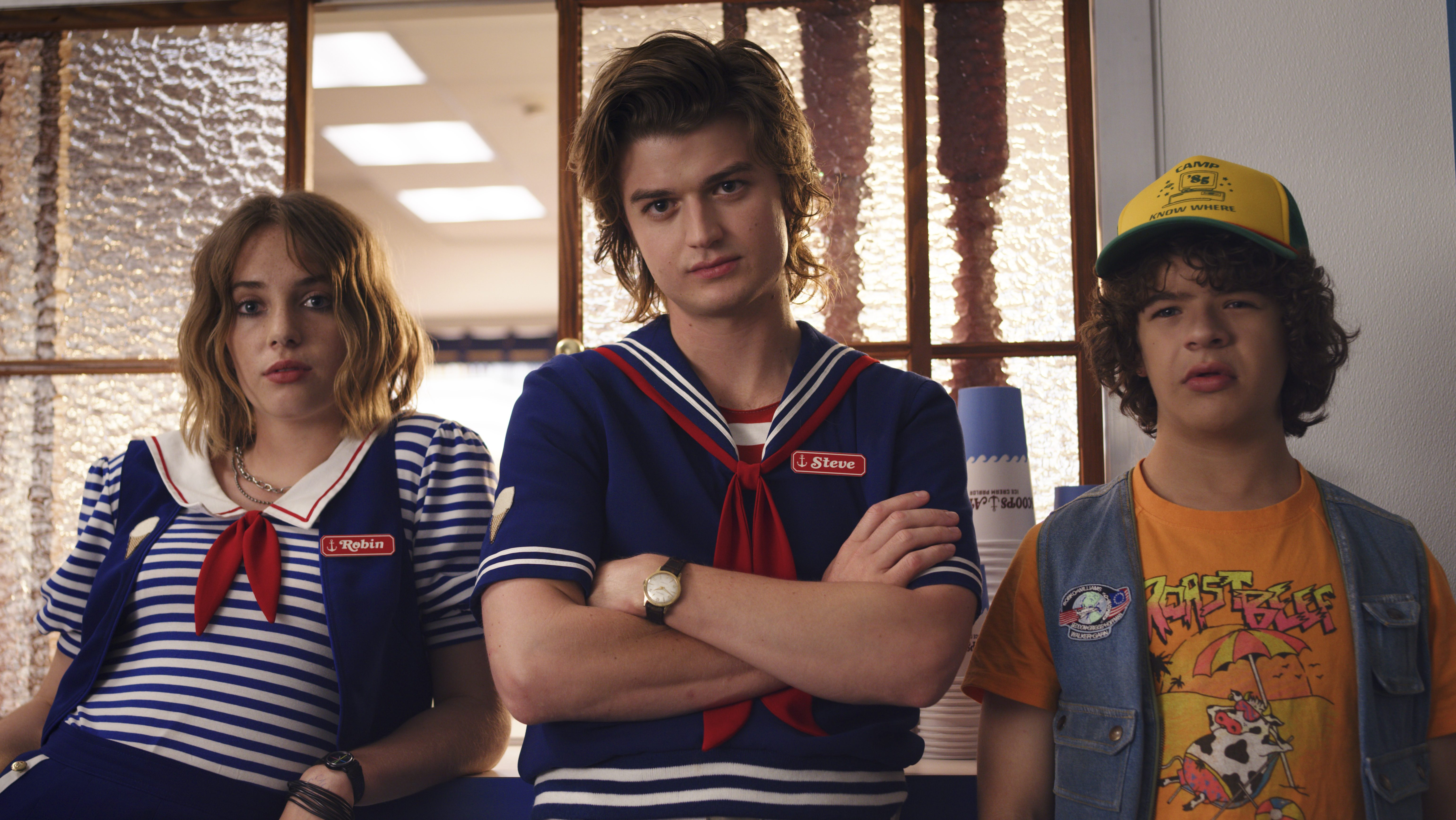 Characters from netflix's stranger things season 3