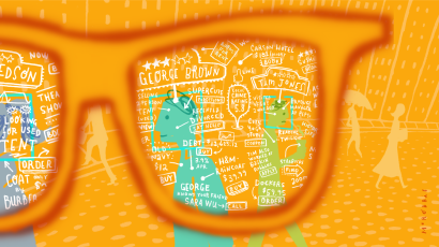illustration of AR glasses