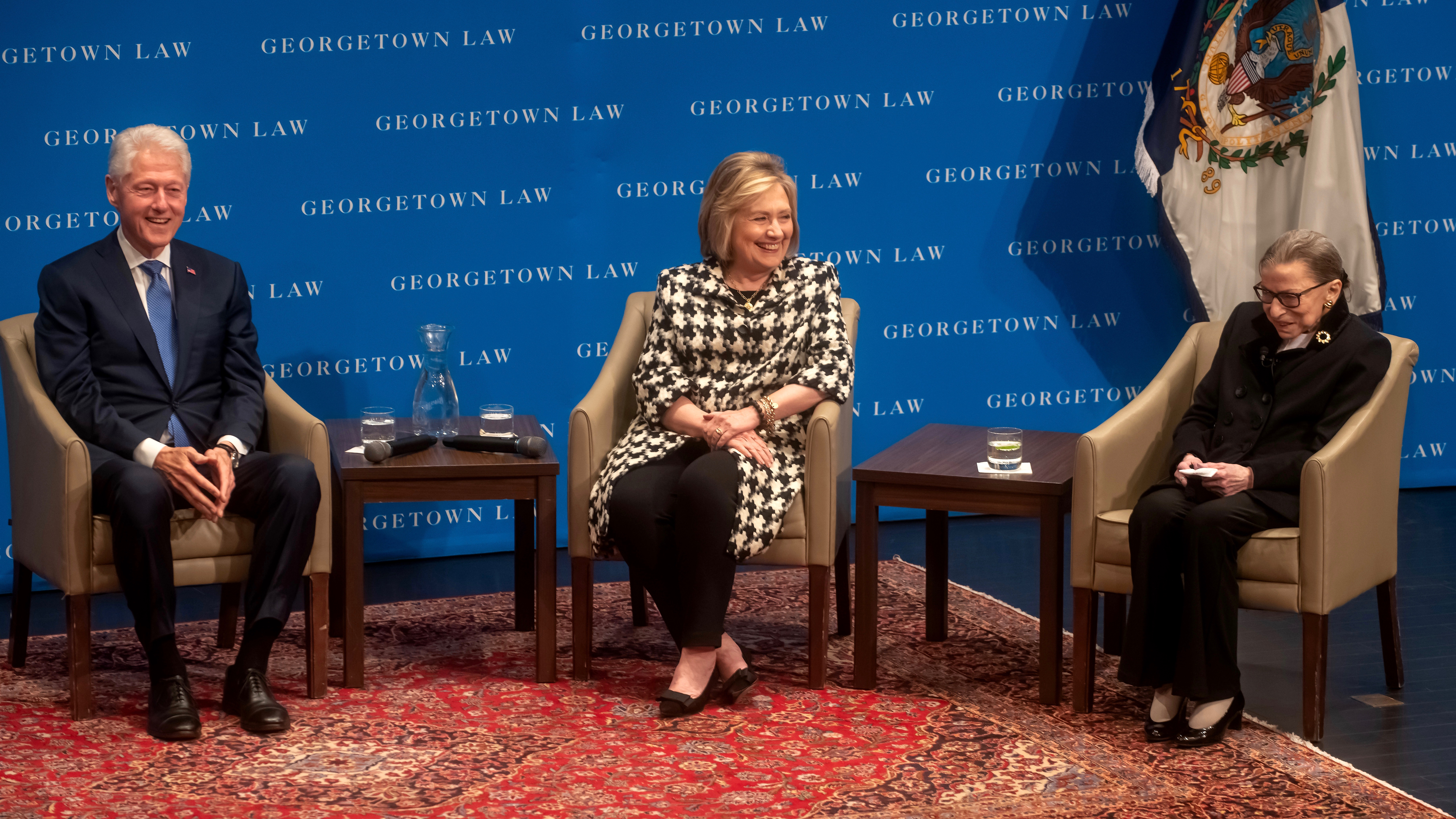 Bill and Hillary Clinton with RBG on Oct. 30