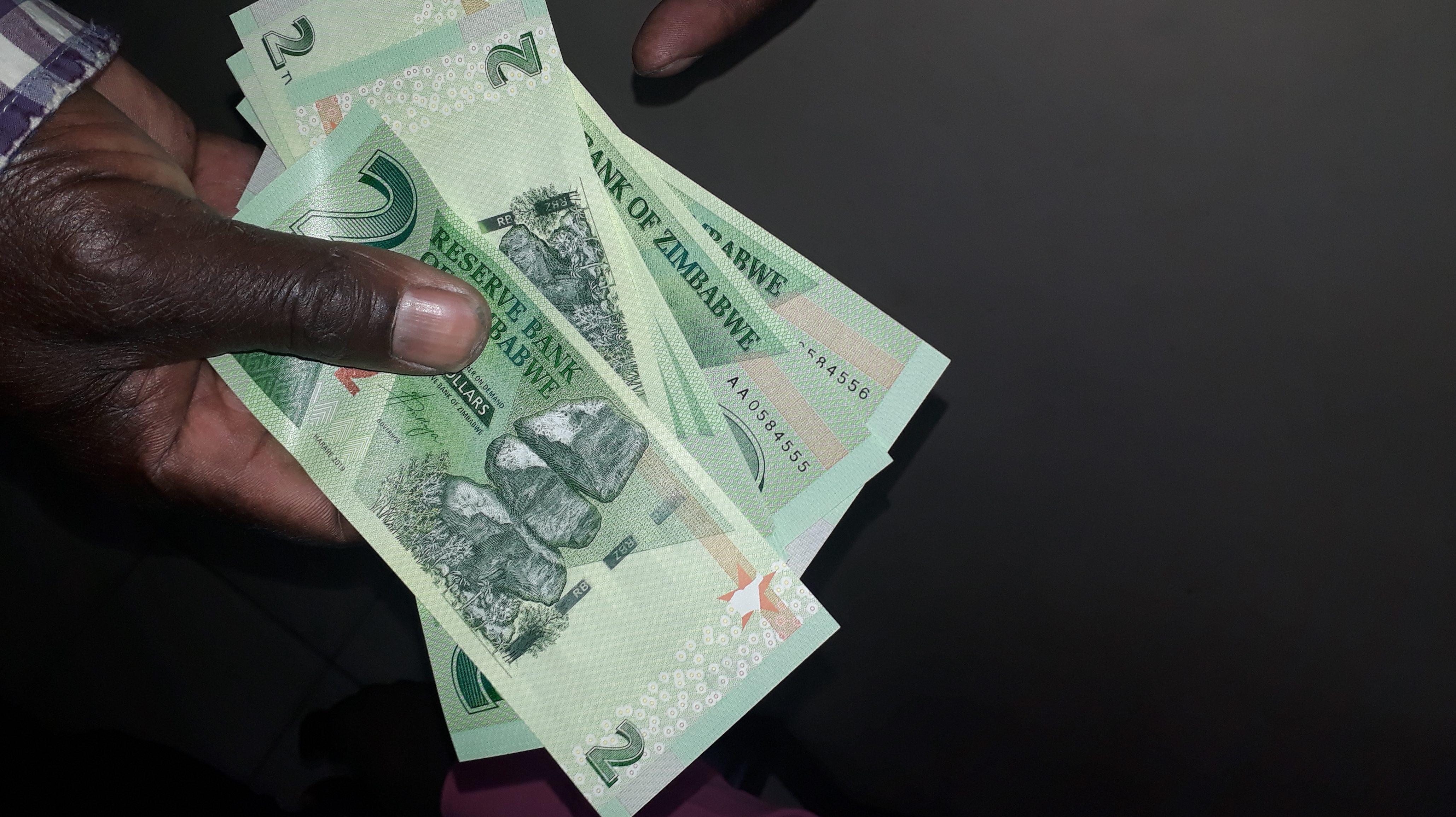 Cash in Zimbabwe
