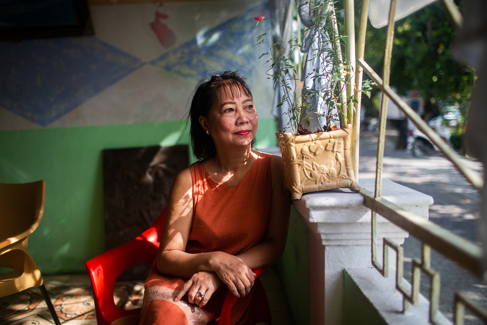 Tran Thi Phuong Tien, owner of Cafe Hua Sua in Hue.