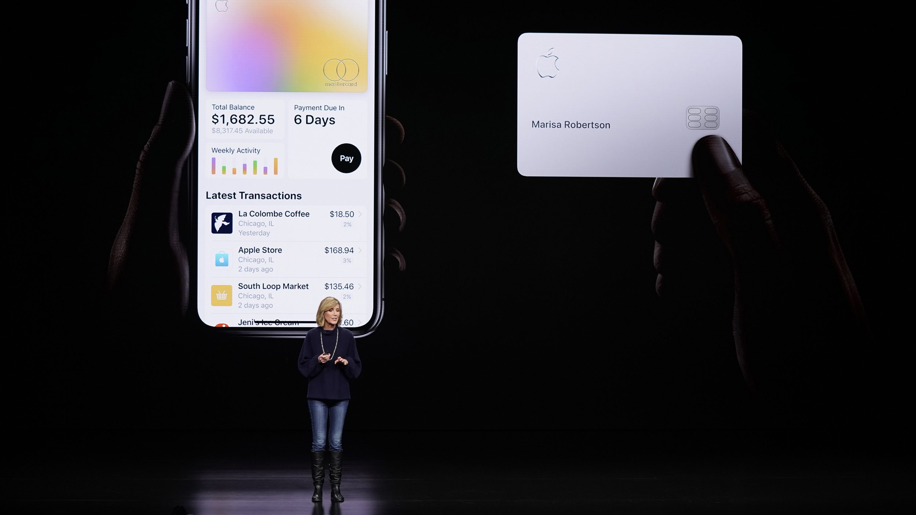 Jennifer Bailey, vice president of Apple Pay, speaks about the Apple Card.