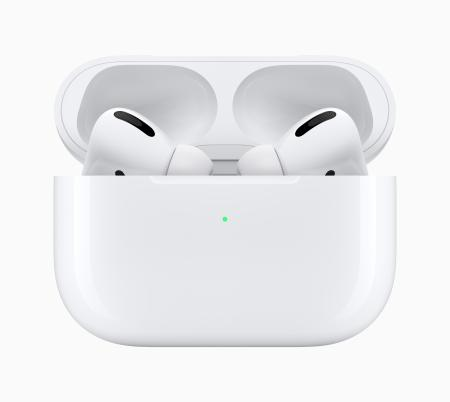 AirPods Pro in their charging case.