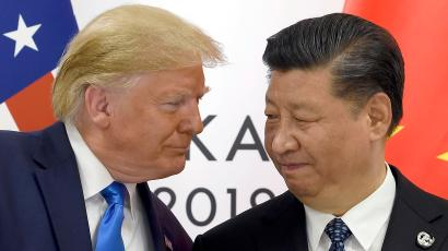 President Donald Trump meets with Chinese President Xi Jinping