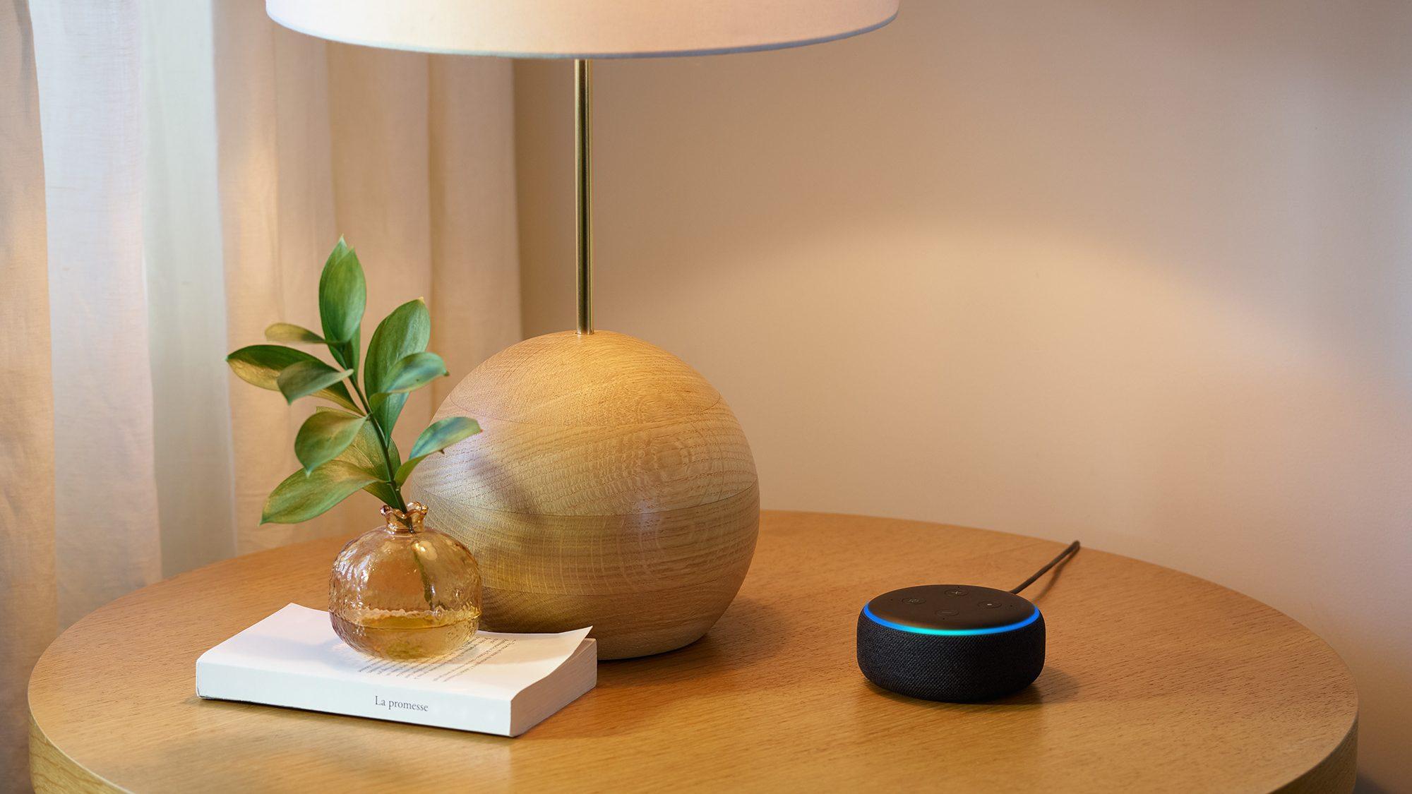 Echo Dot, Charcoal, Side Table