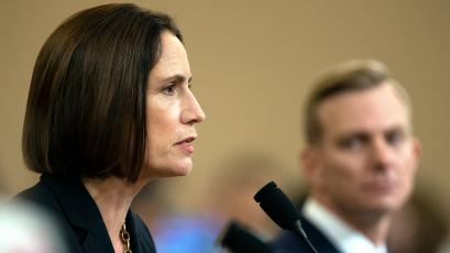 Former White House national security staffer Fiona Hill testifies on Nov. 22.