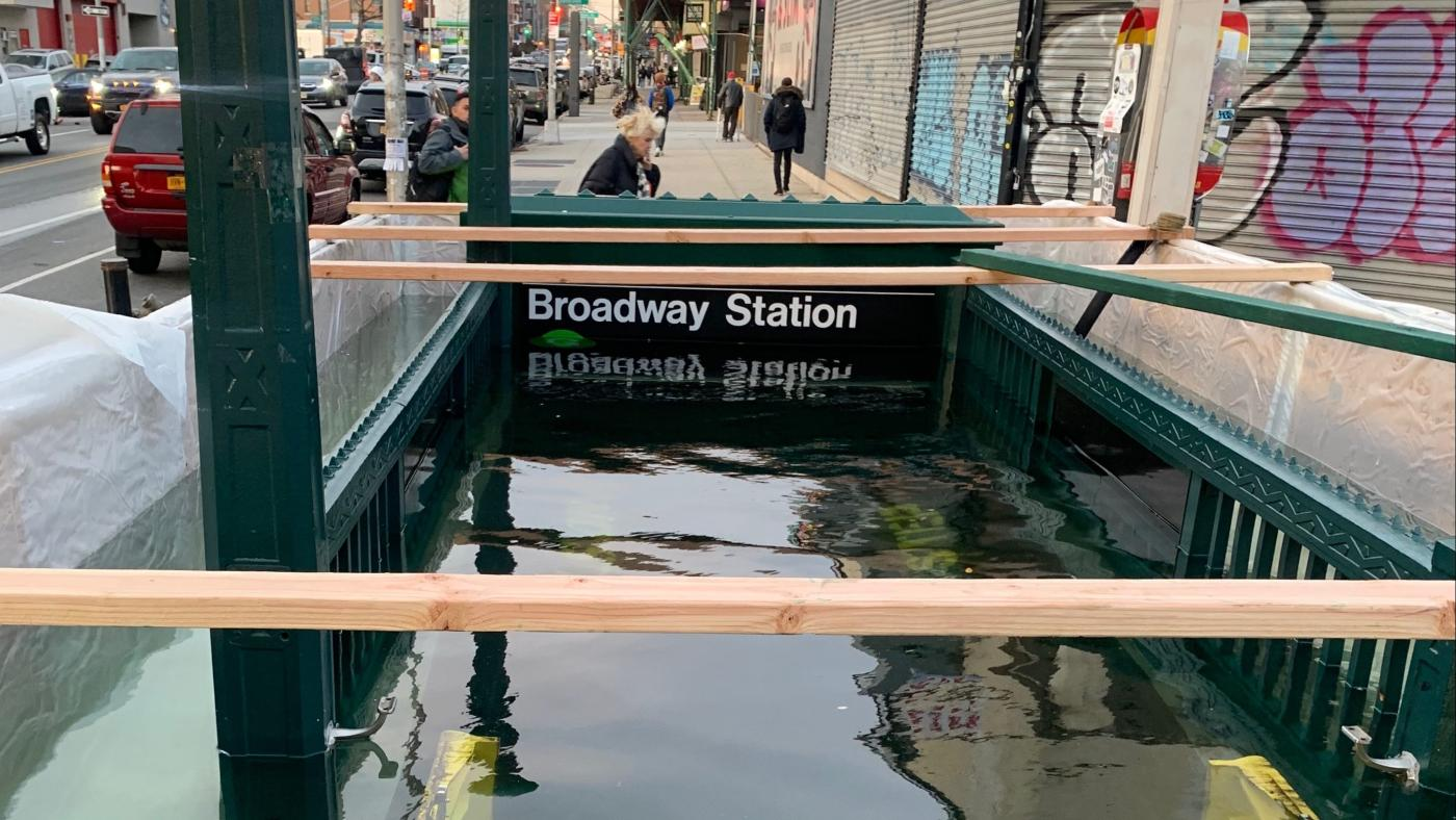 NYC is flooding subway entrances to prepare for climate change - Quartz