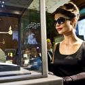 A model dressed as Audrey Hepburn in