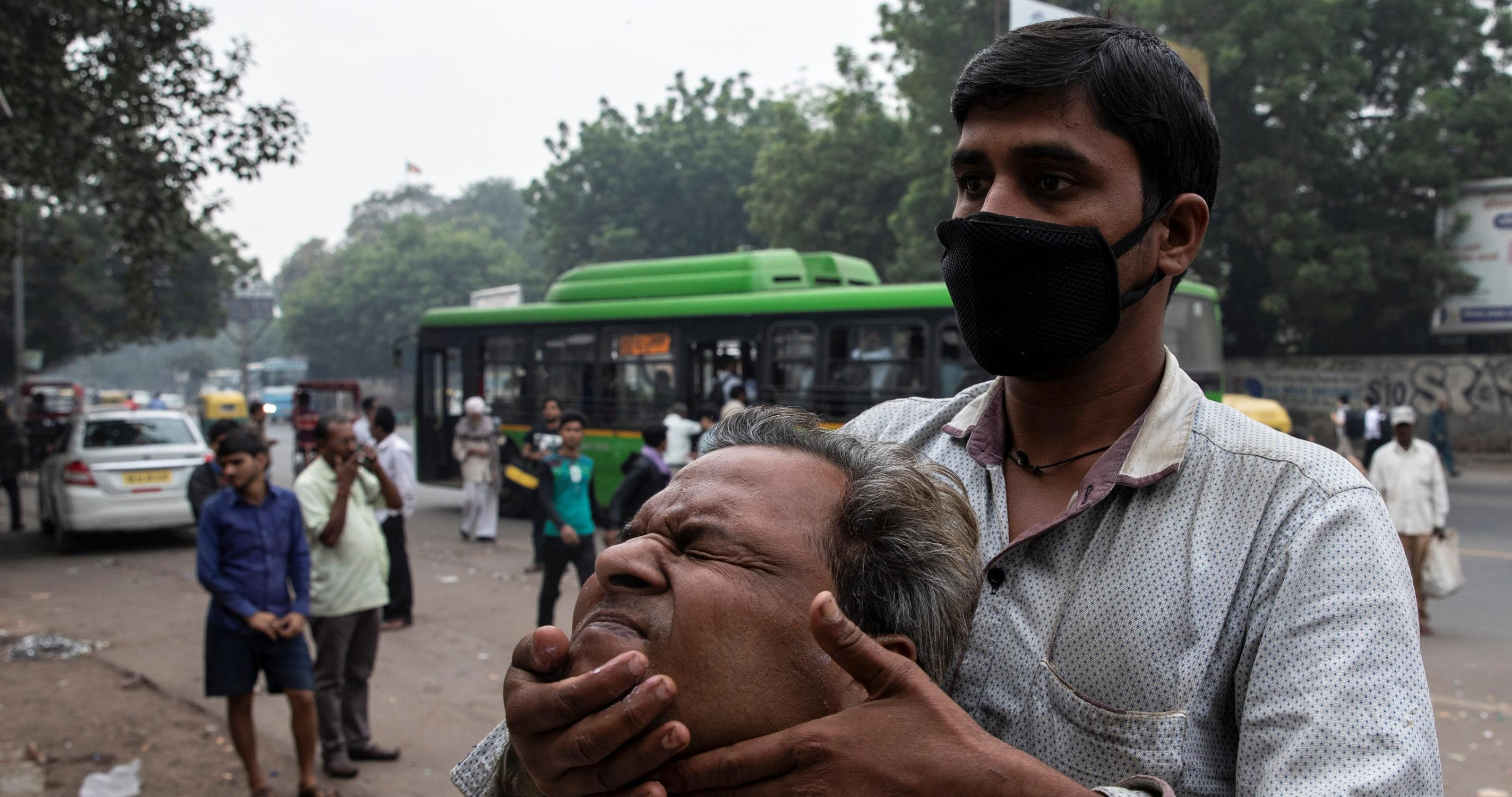 Anti-pollution masks have become essential in Delhi's toxic air