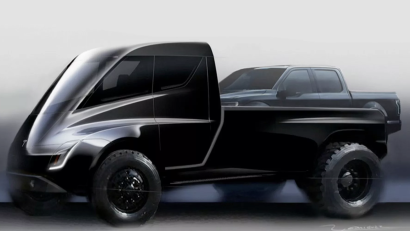 Tesla's pickup truck in an early concept illustration (2017).