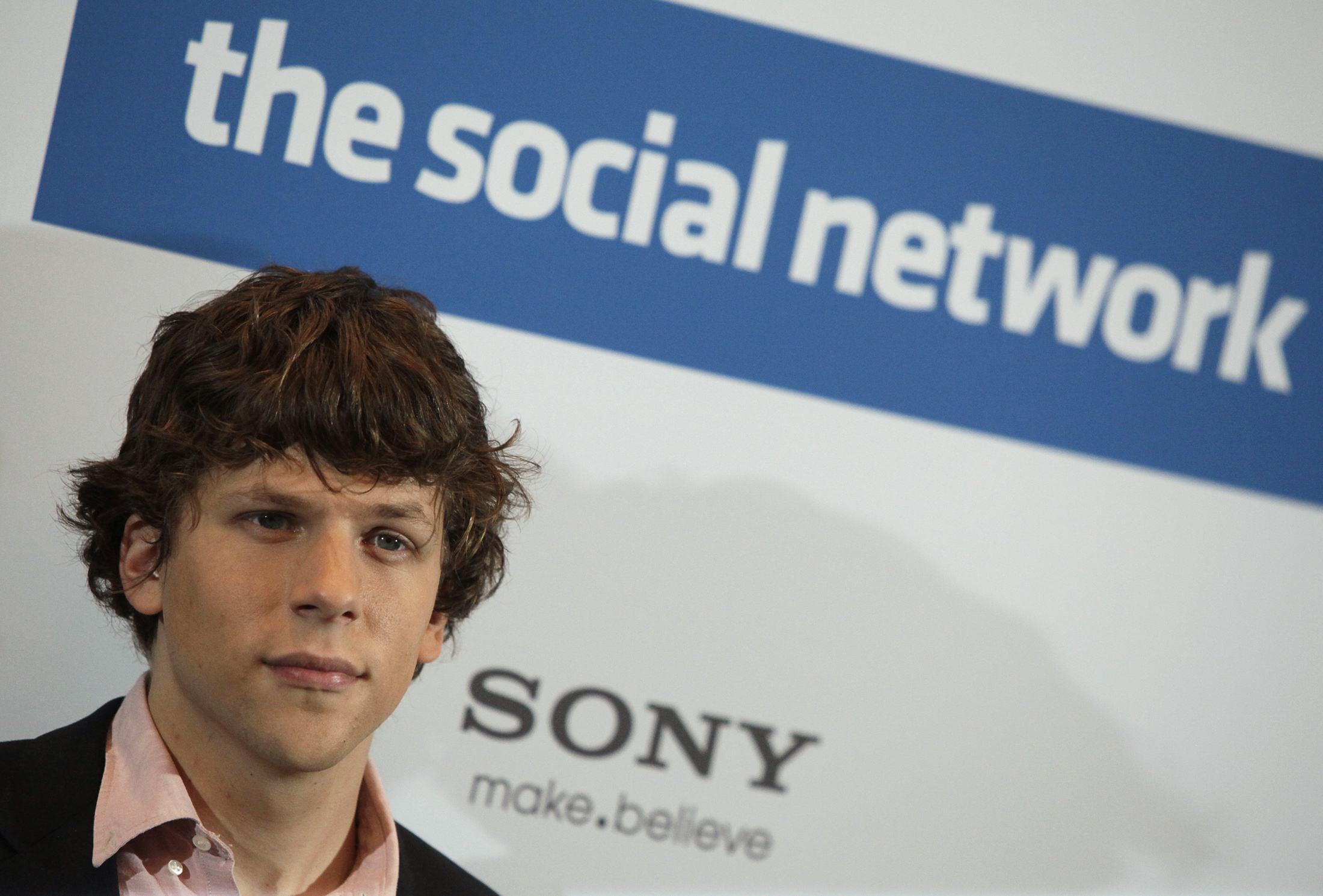 "Actor Jesse Eisenberg poses during photocall to promote movie ""The Social Network"" in Berlin"