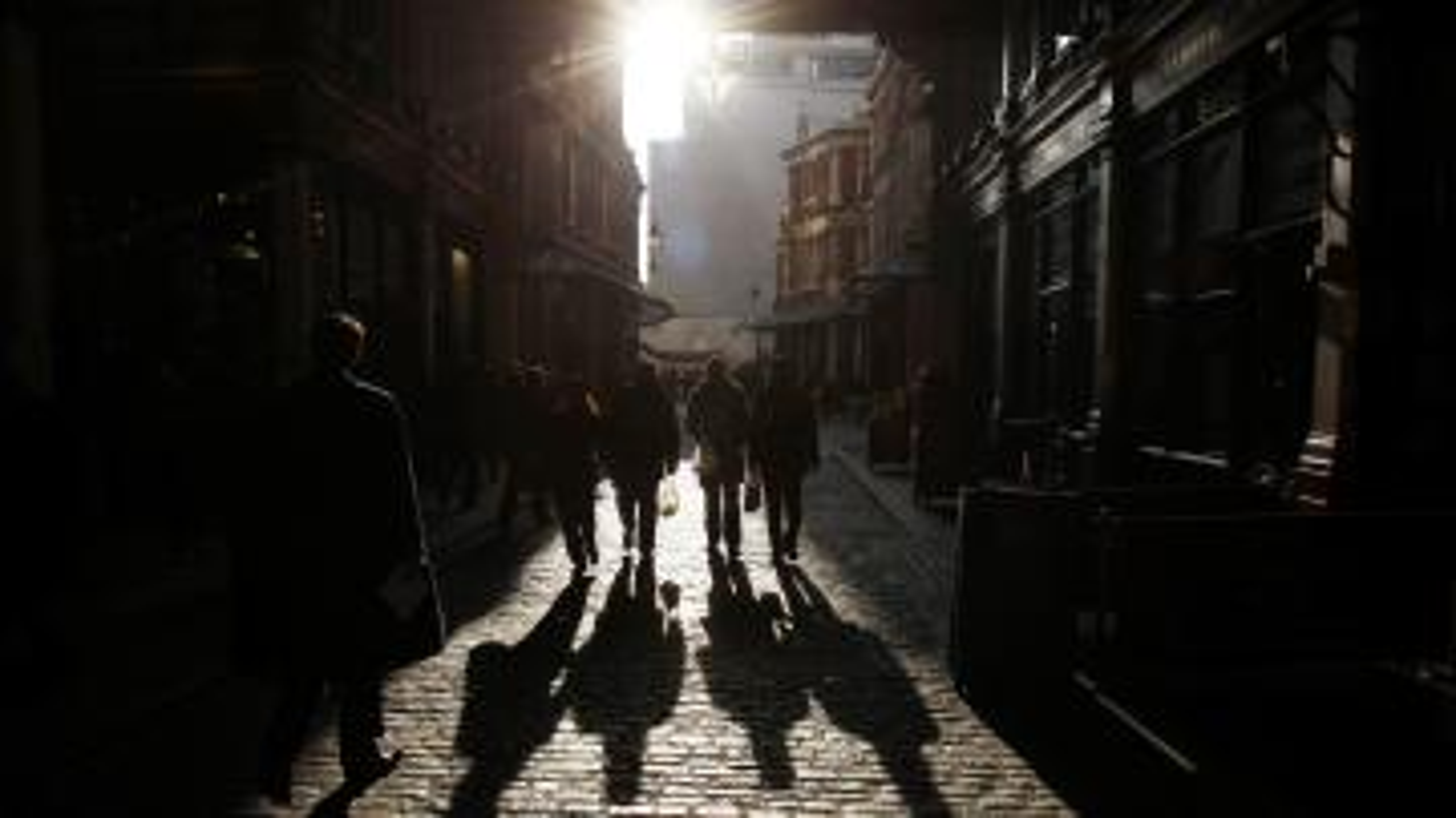 Leadenhall market casts a long shadow.
