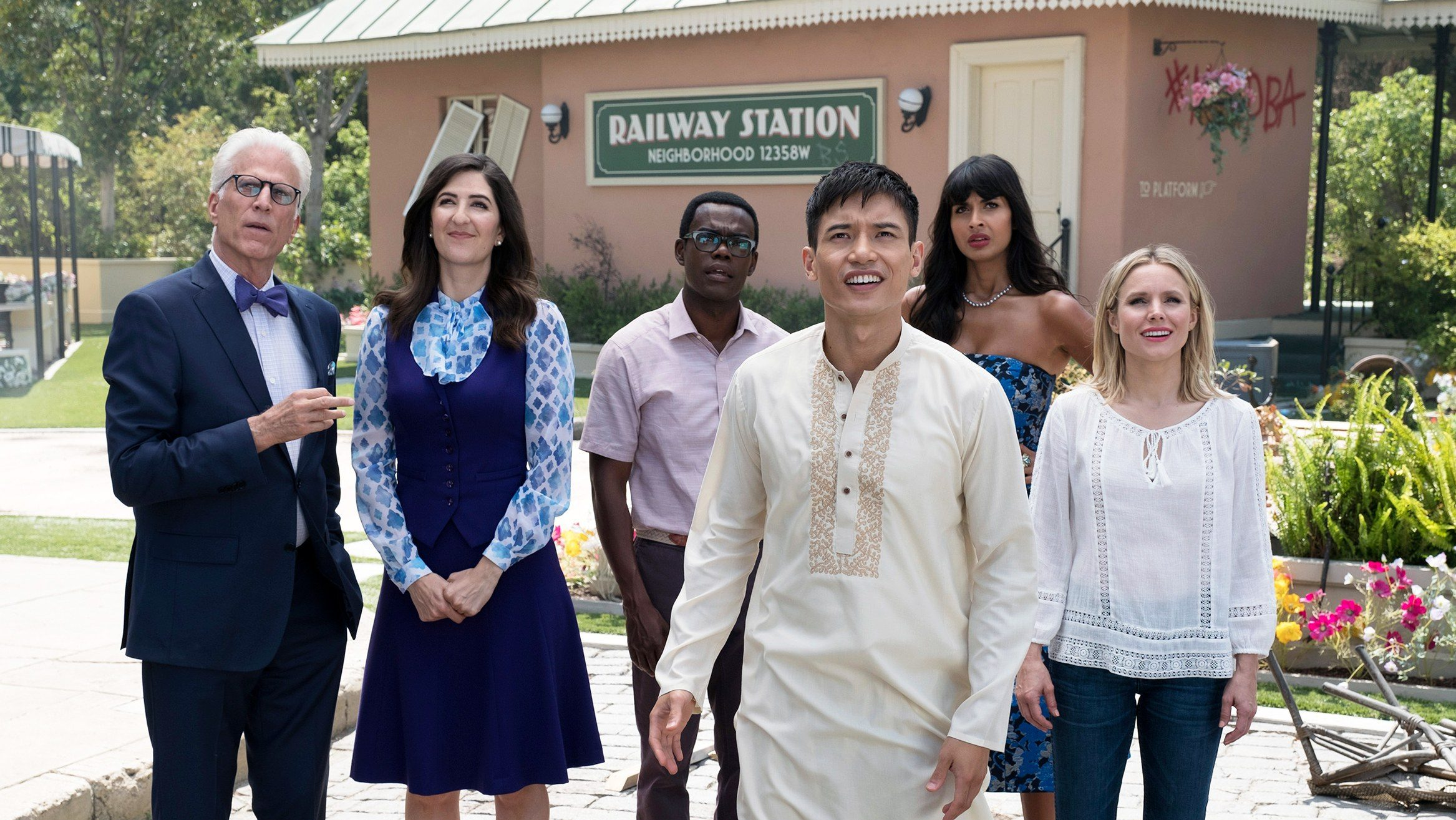 The cast of NBC's The Good Place