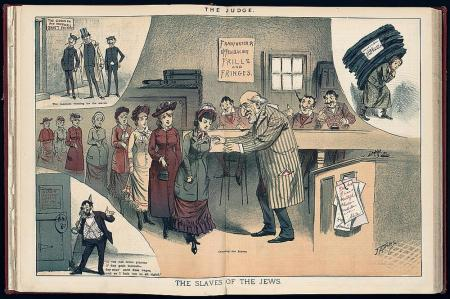 """An illustration from 1882 in the satiric magazine, """"The Judge"""""""