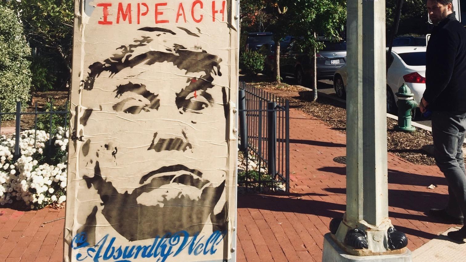 impeach trump sign in washington, dc
