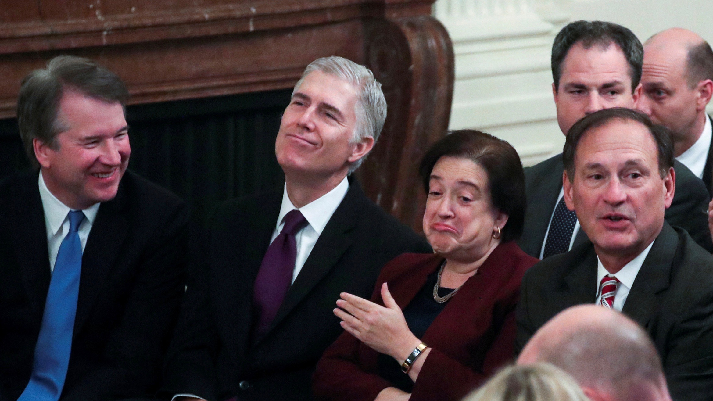 Kavanaugh, Gorsuch, Kagan, and Alito.
