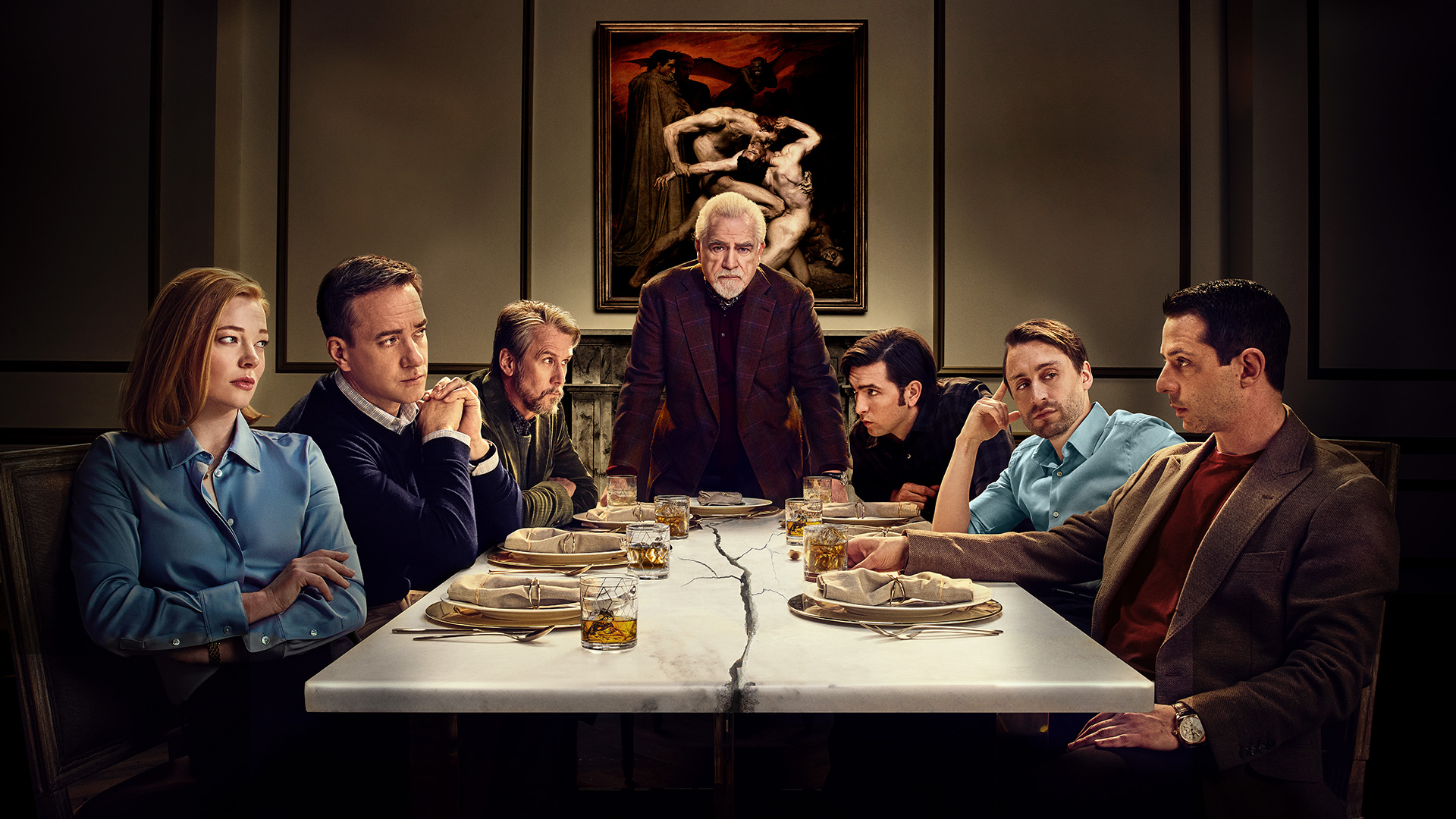 The cast of HBO's Succession