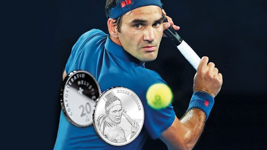 Demand for Roger Federer commemorative coins broke Swiss mint's online shop