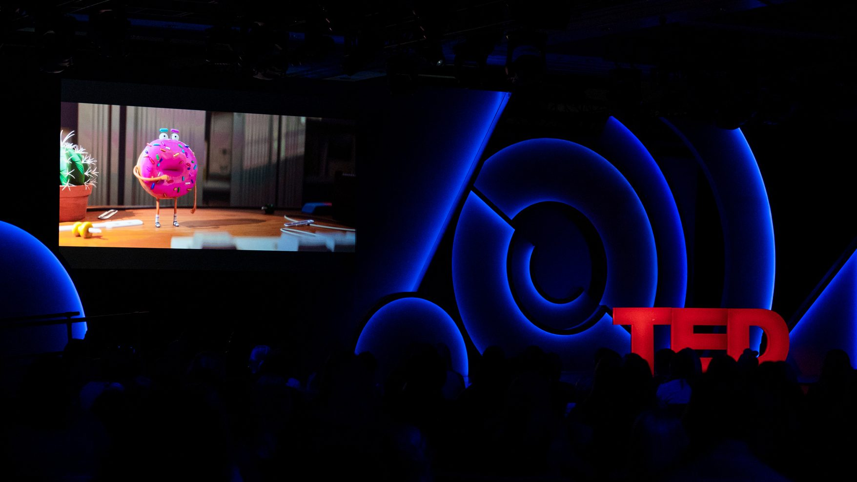 Lead image: Inside the auditorium of TED Women conference 2019