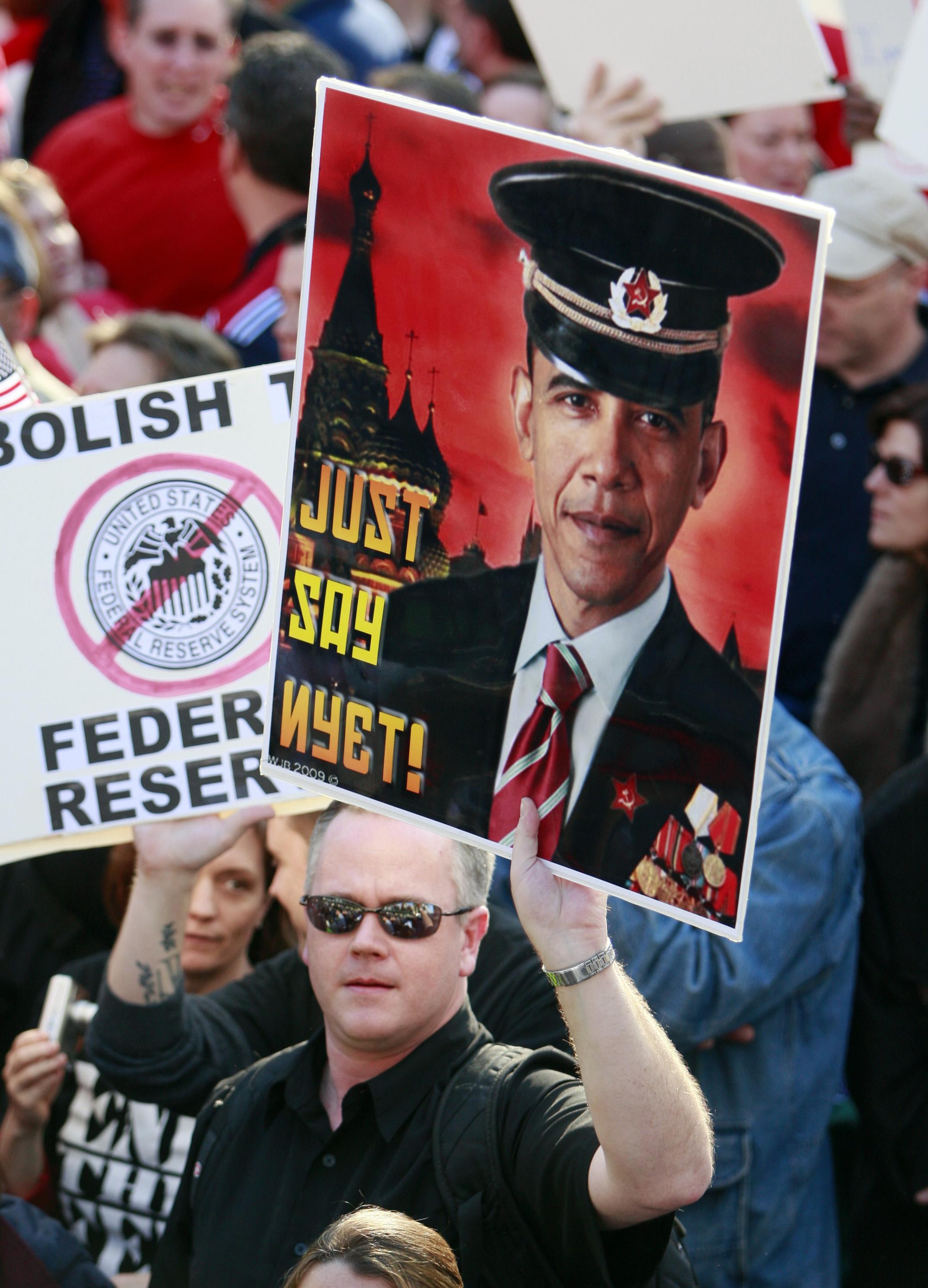 Protests against Barack Obama